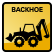 Construction Icon Backhoe