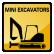 Construction Icon Mini Excavator
