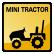 Construction Icon Mini Tractor